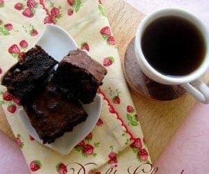 Double Chocolate Brownies and All You Need to Know About Microwave Baking - Guest Post