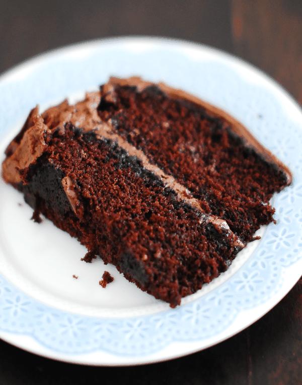 Choc nutella cake slice