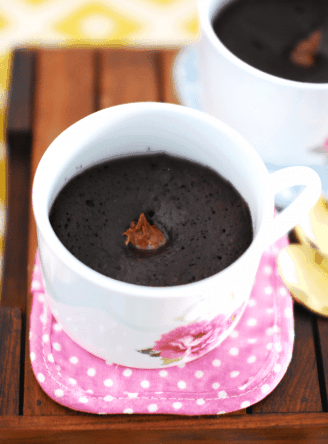 Easy Eggless Chocolate Mug Cake (Step-By-Step Recipe)