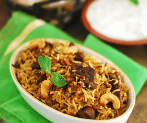 Pressure Cooker Beef Biriyani With Step By Step Pictures