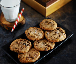 Salted Chocolate Chunk Shortbread Cookies