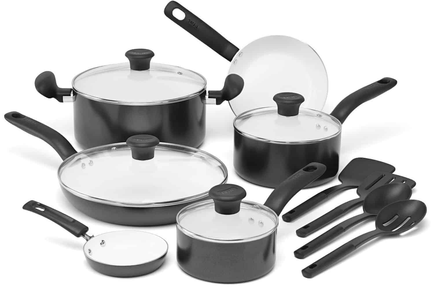 T-fal C996SE Initiatives Non-stick Ceramic Coating 14-Piece Cookware Set